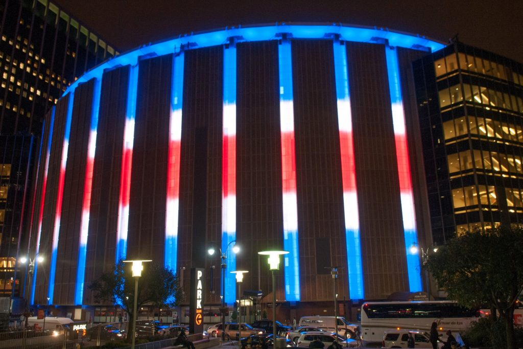The Madison Square Garden is home to many New York City sports teams