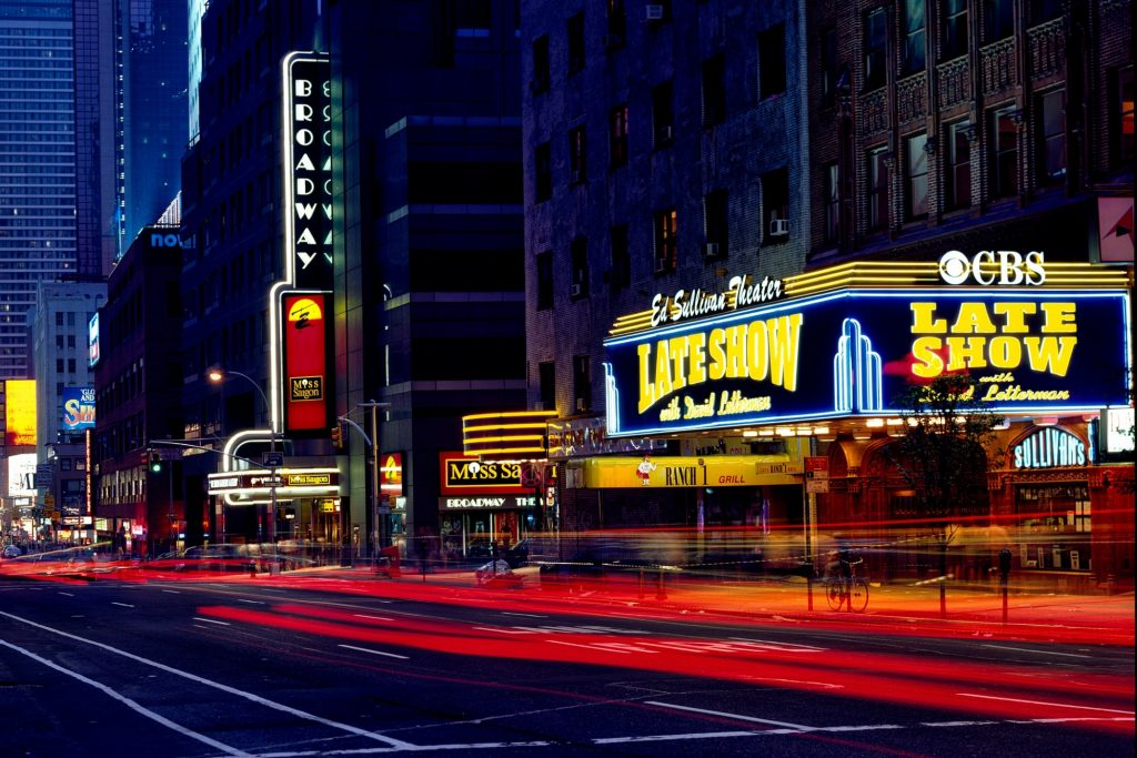 A view of Broadway with all the bright lights